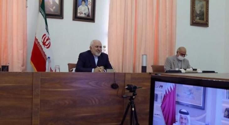 وزيرا خارجية إيران وقطر أكدا تعزيز أواصر التعاون بين البلدين