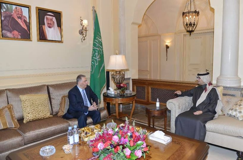 دبور يزور سفير خادم الحرمين الشريفين لدى لبنان وليد بخاري