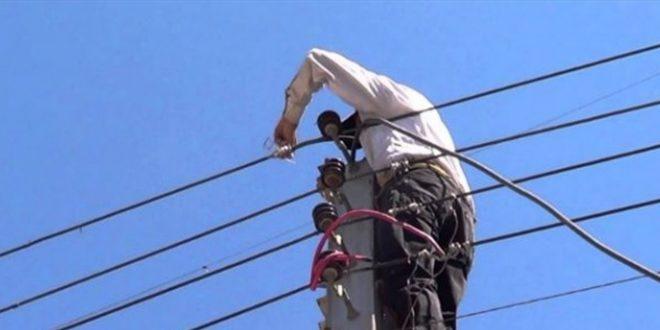 سرقة احدى شبكات الكهرباء في ضهر المغارة