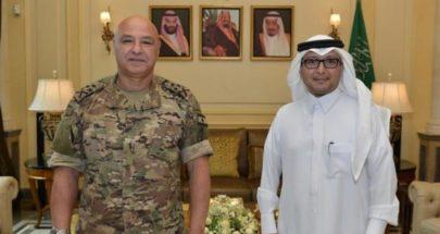 """لقاء قائد الجيش – بخاري: من """"فجر الجرود"""" إلى """"غُروب المُخدِّرات"""""""