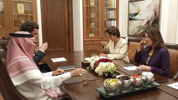 في اليرزة... لقاء بين بخاري والسفيرتين الأميركية والفرنسية