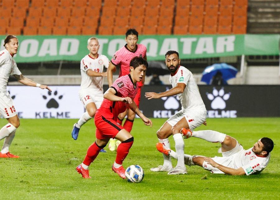 خسارة لبنان أمام كوريا الجنوبية في تصفيات مونديال قطر