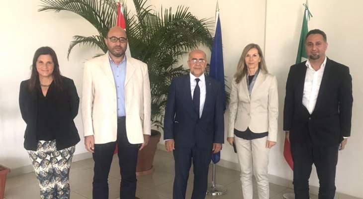 يمق زار السفيرة الإيطالية وبحث معها في قضايا تهم طرابلس وتلبي احتياجاتها